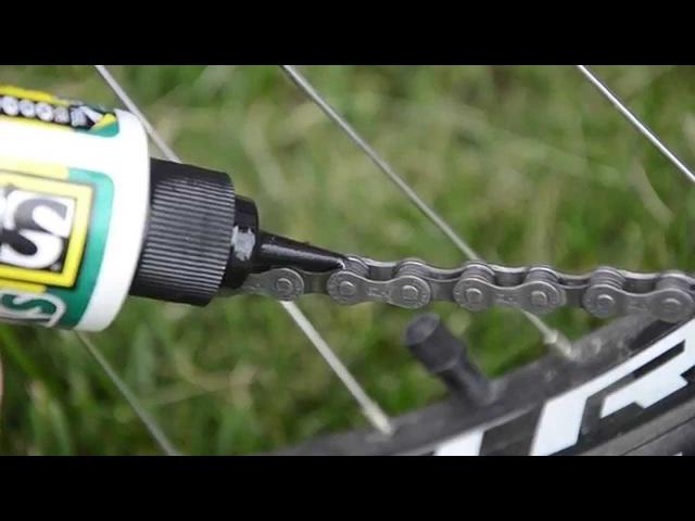 Чистка и смазка цепи велосипеда