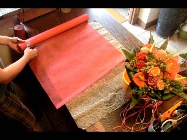花束とラッピング4 作り方 フローリストいかるが Florist Ikaruga