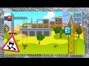✔ Żuraw i maszyn budowlanych Przygody w mieście samochodów Bajki dla dzieci