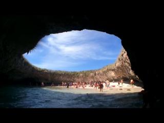 Hidden cave beach in Puerto Vallarta Mexico - Las Marietas Islands