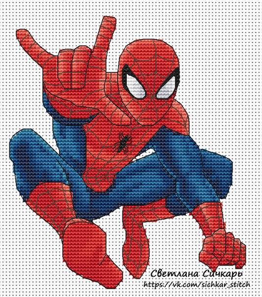 Человек-Паук Размер вышивки