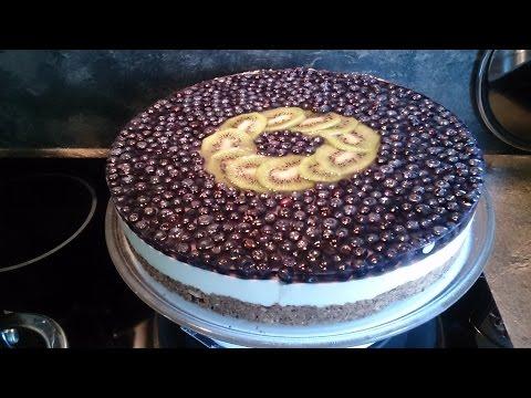 Торт Черничный без выпечки / Cake Blueberry without baking