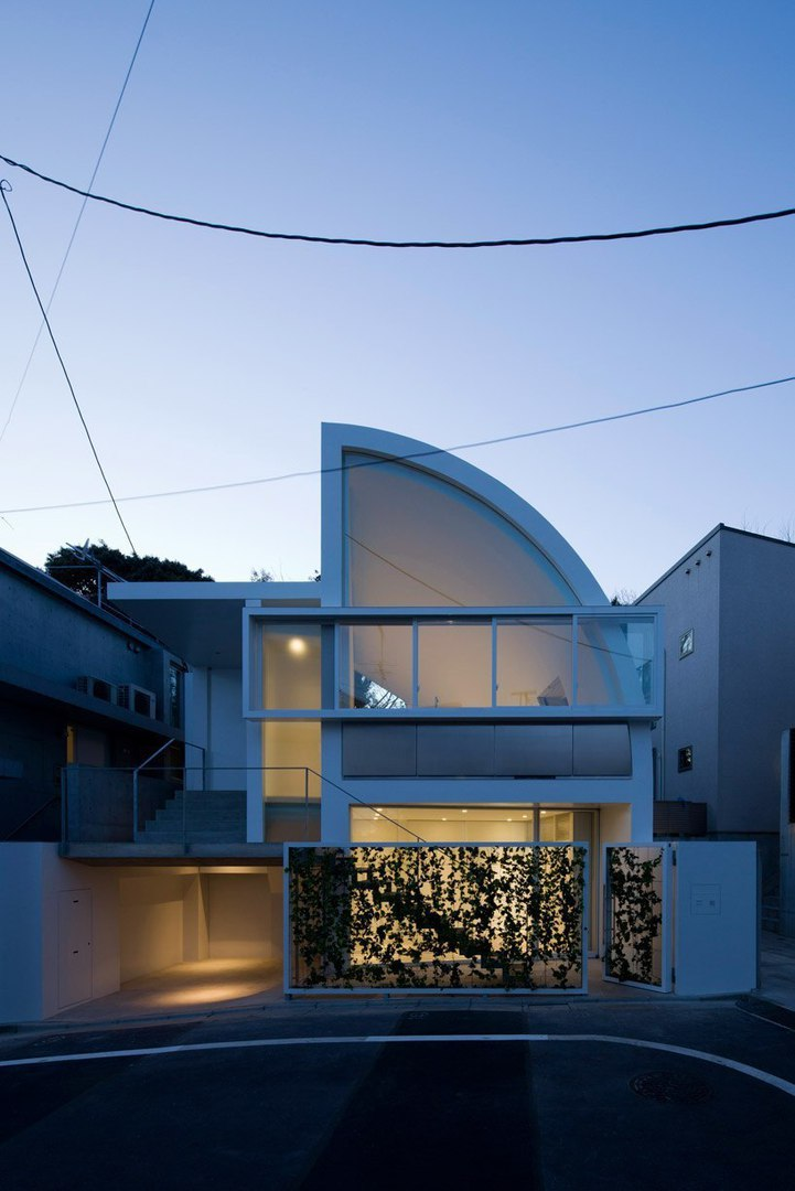 House at Hanegi park' by Shigeru Ban architects in Tokyo, Japan