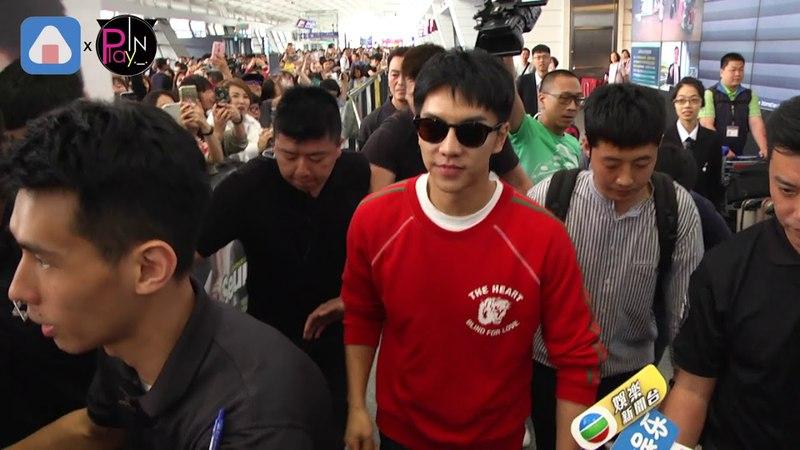18.04.21 Lee Seung Gi Taoyuan Airport Press Video 2