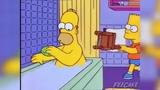 Bart Hits Homer with a Cheeki-Breeki