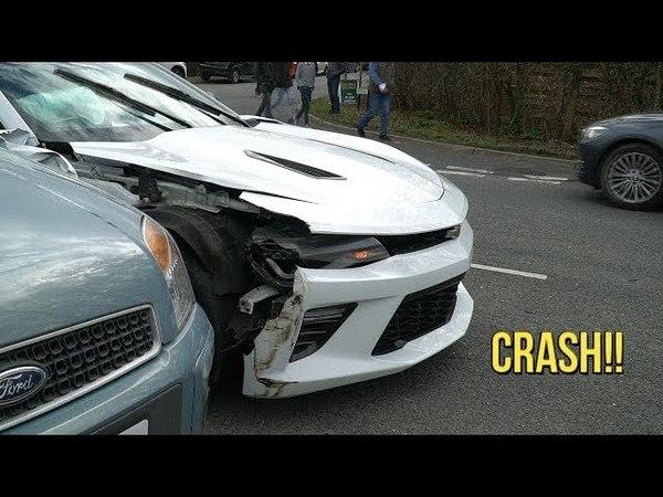 CRASH!! Chevrolet Camaro Crashed Leaving a Car Show! Written off!!
