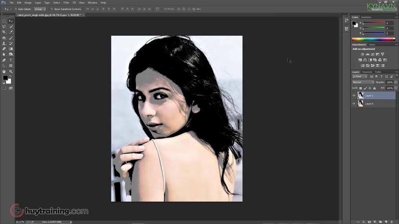 Học photoshop miễn phí-Hiệu ứng chân dung chữ-Nguyễn Công Trình