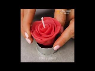 Уникальные идеи поделок из свечей своими руками