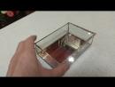 Прямоугольная шкатулка с зеркальным дном
