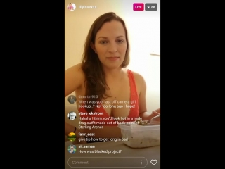 Pornstar Lily Love shows off her cleavage during chat with fans