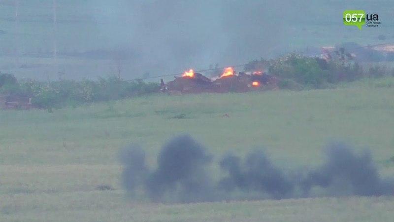 Момент взрыва блиндажа сепаратистов силами бойцов ВСУ