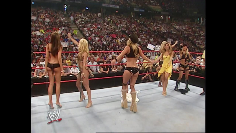 WWE Monday Night Raw 11th July 2005 - Christy Hemme The Coach Diva Search Finalist segment