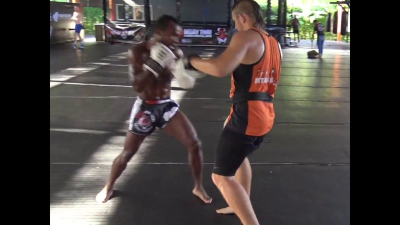 Arthur Black Dragoon Sorsor hitting pads with Sam Bastin