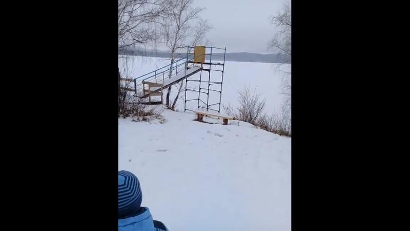 Возле озера база