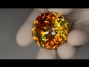 Faceted gem sphalerite - 247.63 ct
