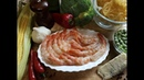 Паста тальятелле со сливочным соусом креветками и осенними овощами