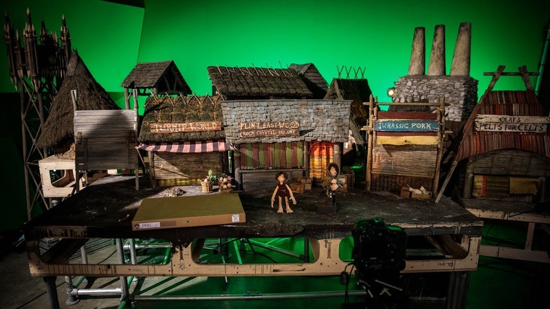 On the Shooting Set of Aardman Animations' Early Man!