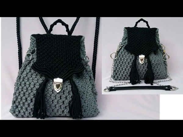 Tutorial Lengkap Tas Ransel Dari Tali Kur - Full Making Of Macrame Backpack Bag