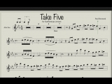 Paul Desmond - Take Five (Ноты и фонограмма для саксофона альт)
