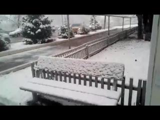 Снег в Башкирии. 23.04.18