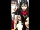 171220 MinHees Instagram Live feat GaYoung HyoEun Jeonyoul Fit Mobile Screen Without Chat Ver