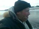 По ноябрьскому льду Подкаменной Тунгуски на лодке