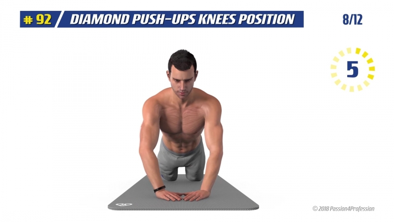 Passion4Profession Inc. (P4P) FAST CHEST ABS WORKOUT at home with trainer tips - Ultimate killer training by P4P