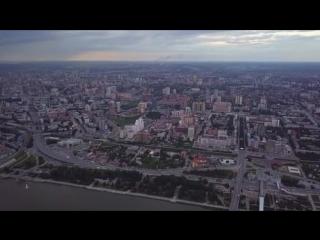 Мосты Новосибирска и широкая Обь. Простор!