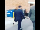 13/02/18 - arriving at the Jimmy Kimmel Live studio, LA