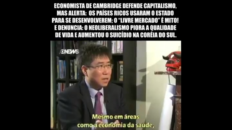 O economista sul-coreano Ha-Joon Chang defende o capitalismo mas alerta