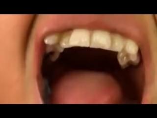 Giantess swallows tinies whole