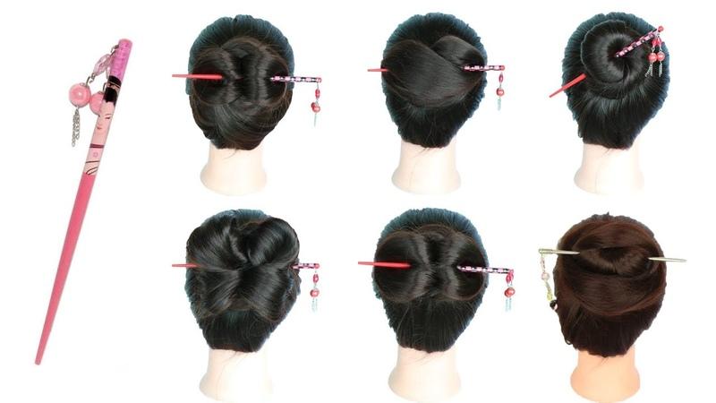 МЫ ПРОФИ - 6 easy and amazing juda hairstyle with bun stick