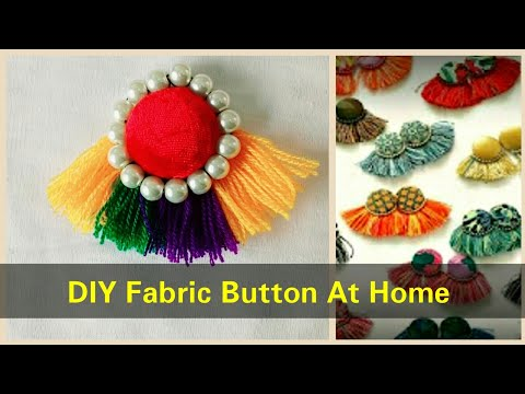 How to Make Latest Fabric Button At Home For Kurties - Simple Easy Method 2017 - DIY