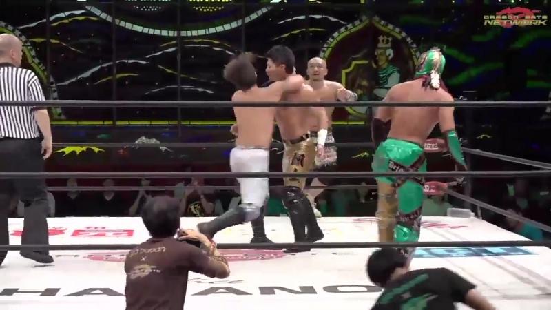 BxB Hulk Yosuke Santa Maria U T vs Dragon Kid Gamma Kaito Ishida Dragon Gate The Gate of Passion 2018 Day 15
