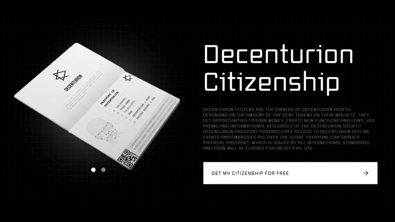 Decenturion главное о первом в мире децентрализованном государстве