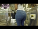 Epic Phat Donk In Blue Denim Jeans candid booty