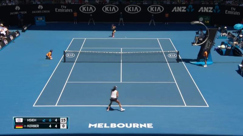 Теннис. Женщины. Australian Open 2018. Хард Се Су-Вэй Кербер Анжелика 1:2 (6:4, 5:7, 2:6)