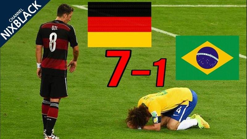 Germany 7 1 Brazil 2014 World Cup Semi Final Highlight HD 720P смотреть онлайн без регистрации