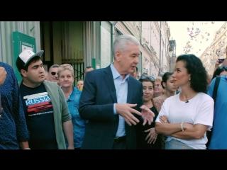 Прогулка-интервью с Сергеем Собяниным на Никольской