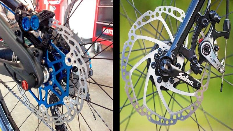 Велосипедные тормоза ободные vs дисковые