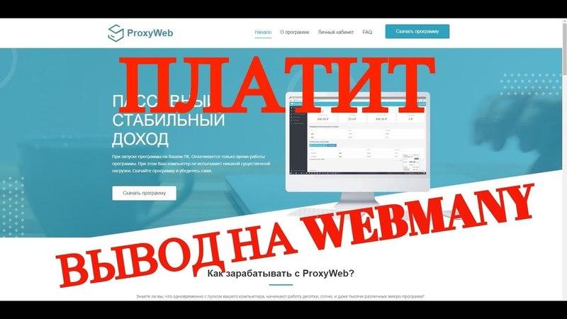 PROXY-WEB.INFO . ВЫВОД НА WEBMONEY - 136 РУБ