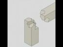Соединение деревянных деталей без дополнительного крепежа