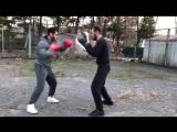 Бокс. Тренировка на улице. Мотивация.