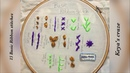 Basic Ribbon stitches for beginners 15 Ribbon embroidery for beginners Keya's craze 88