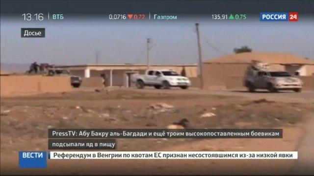 Новости на «Россия 24» • Главаря ИГ и его троих сообщников пытались отравить
