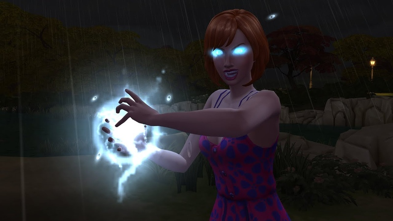 The Sims 4 Seasons: Hypercharged Sim (Lightning Bender)