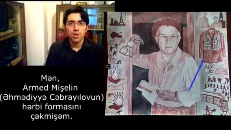 Rəssam Nihad Əliyevin çəkdiyi Əhmədiyyə Cəbrayılovun portreti Fransız dilində YouTube 360p