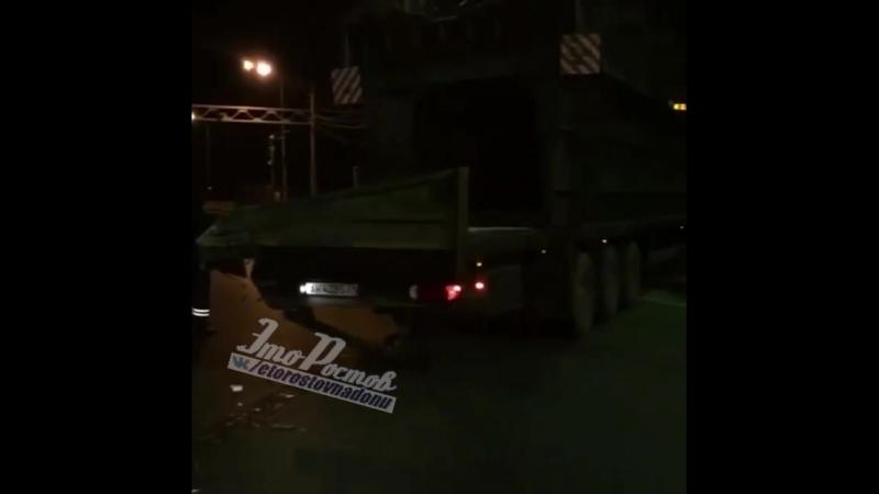 Вечером 9 февраля, произошло ДТП с двумя большегрузами. Пост ГИБДД г. Аксай