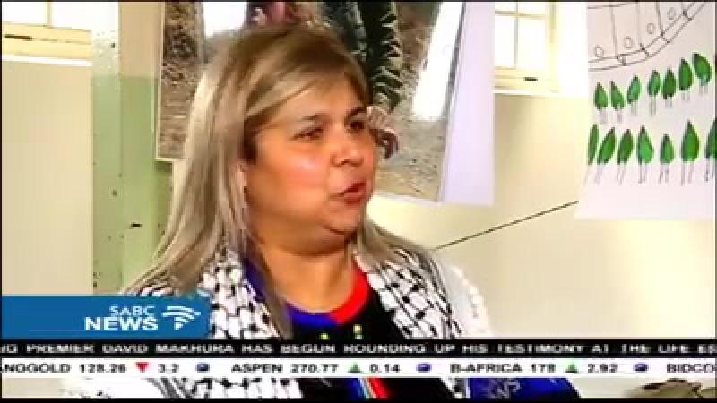 Inclusion d'un reportage sur la prisonnière d'opinion palestinienne AhedTamimi sur les News de la chaîne SABC on line 5 Afriqu