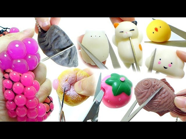 Cutting Open Squishy Squeeze Toy Compilation [No Music]